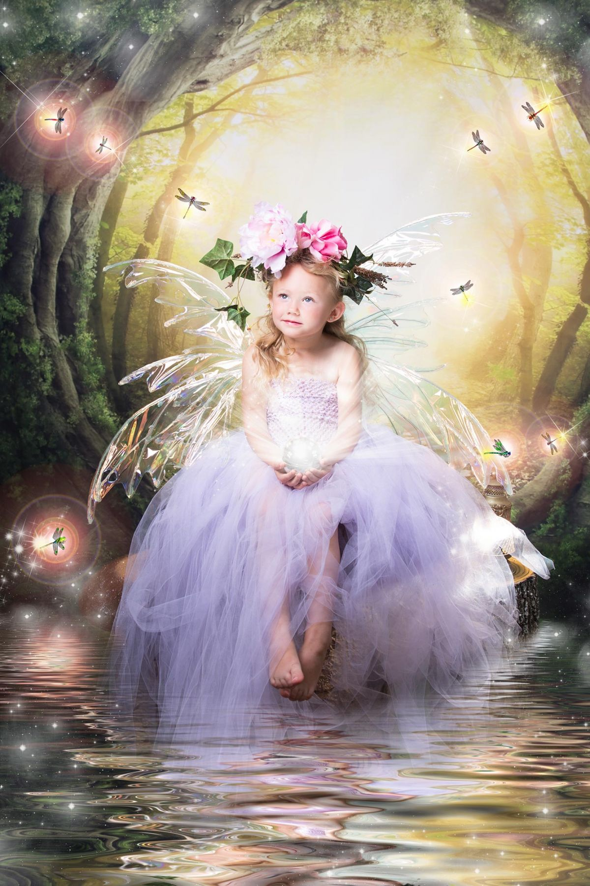 Flower Mound Storybook Photography White Lavender Photography Little Fairies session