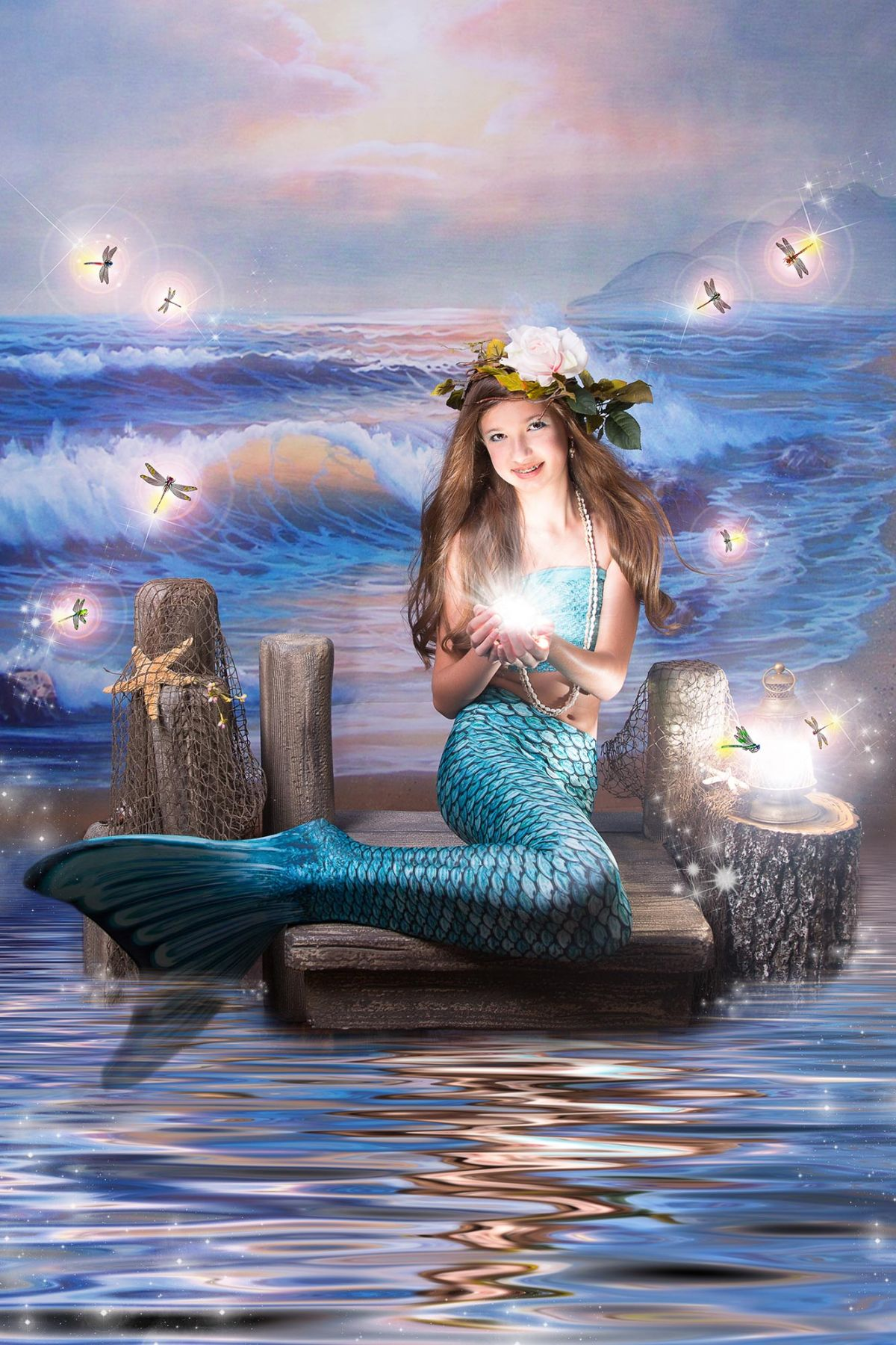 Flower Mound Storybook Photography White Lavender Photography little Mermaid