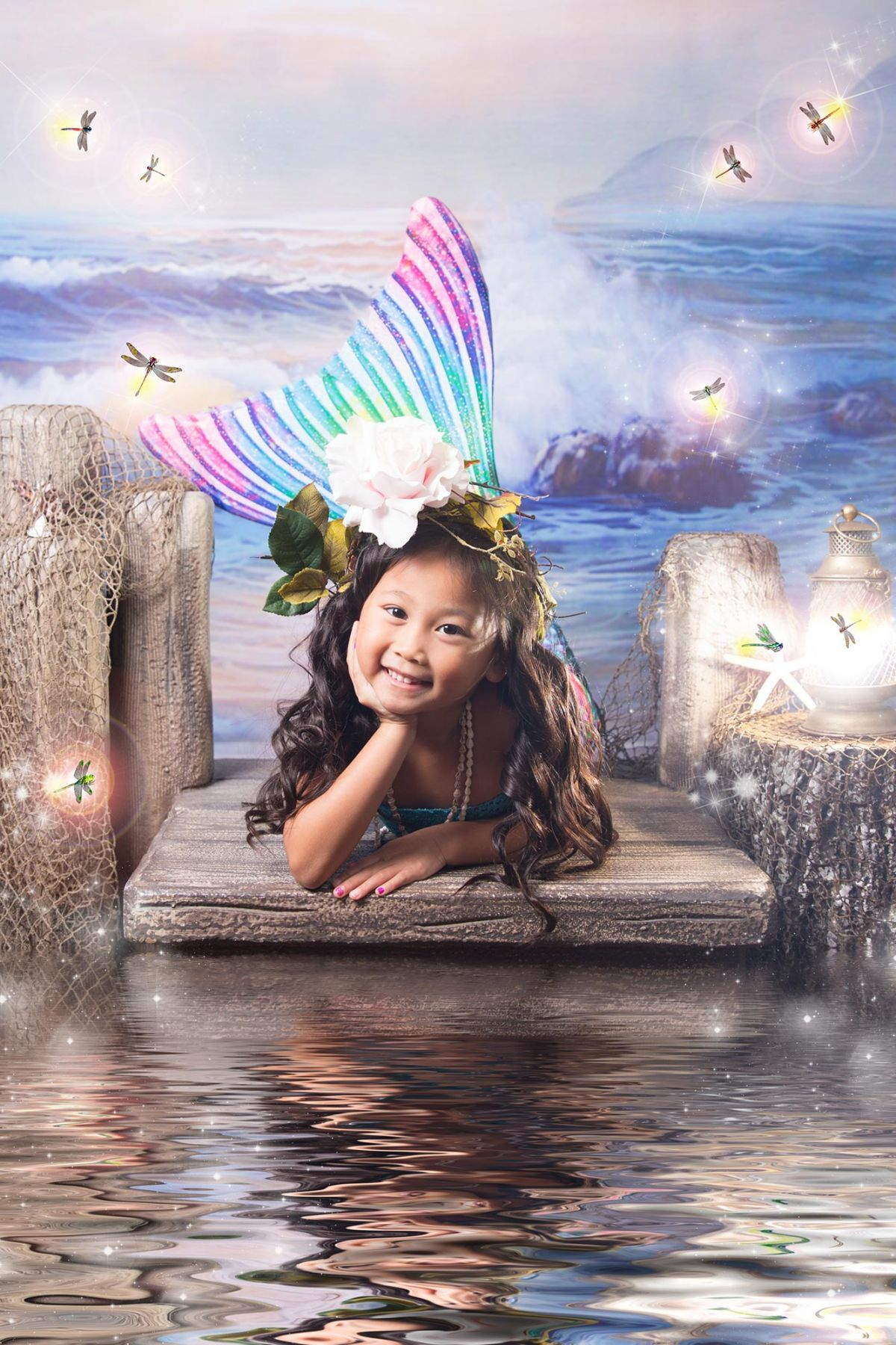 lower Mound Storybook Photography White Lavender Photography little Mermaid