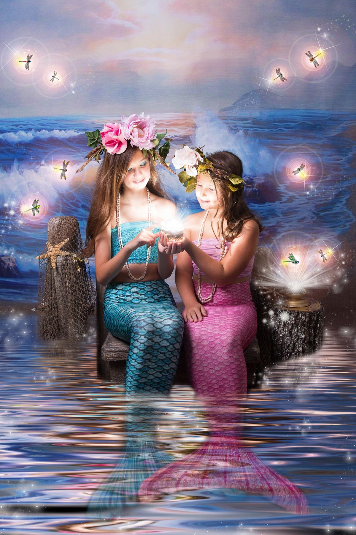 Mermaid photo session enchanted Flower Mound