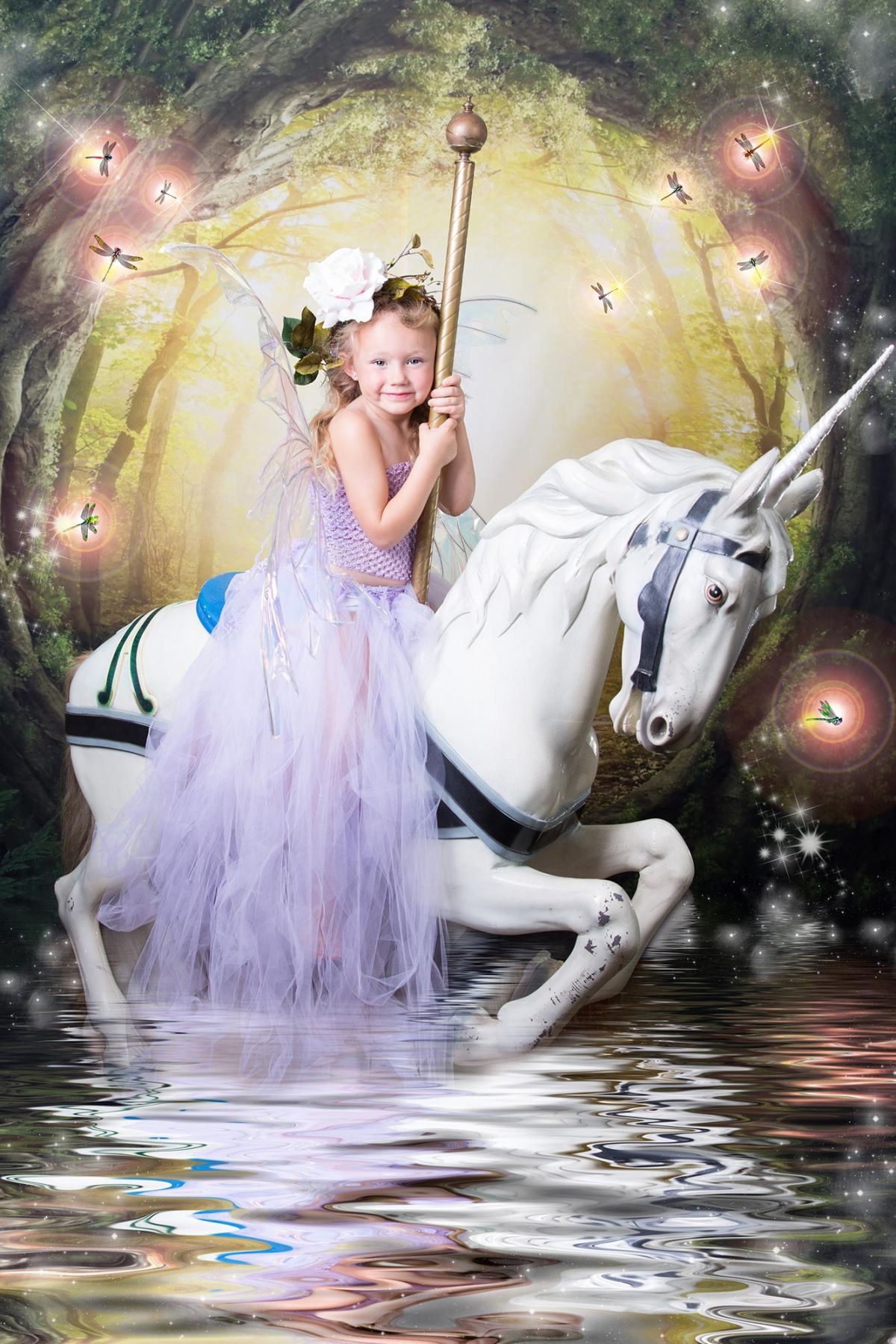 Unicorn_photo_session_Flower_Mound_White_Lavender_Photography