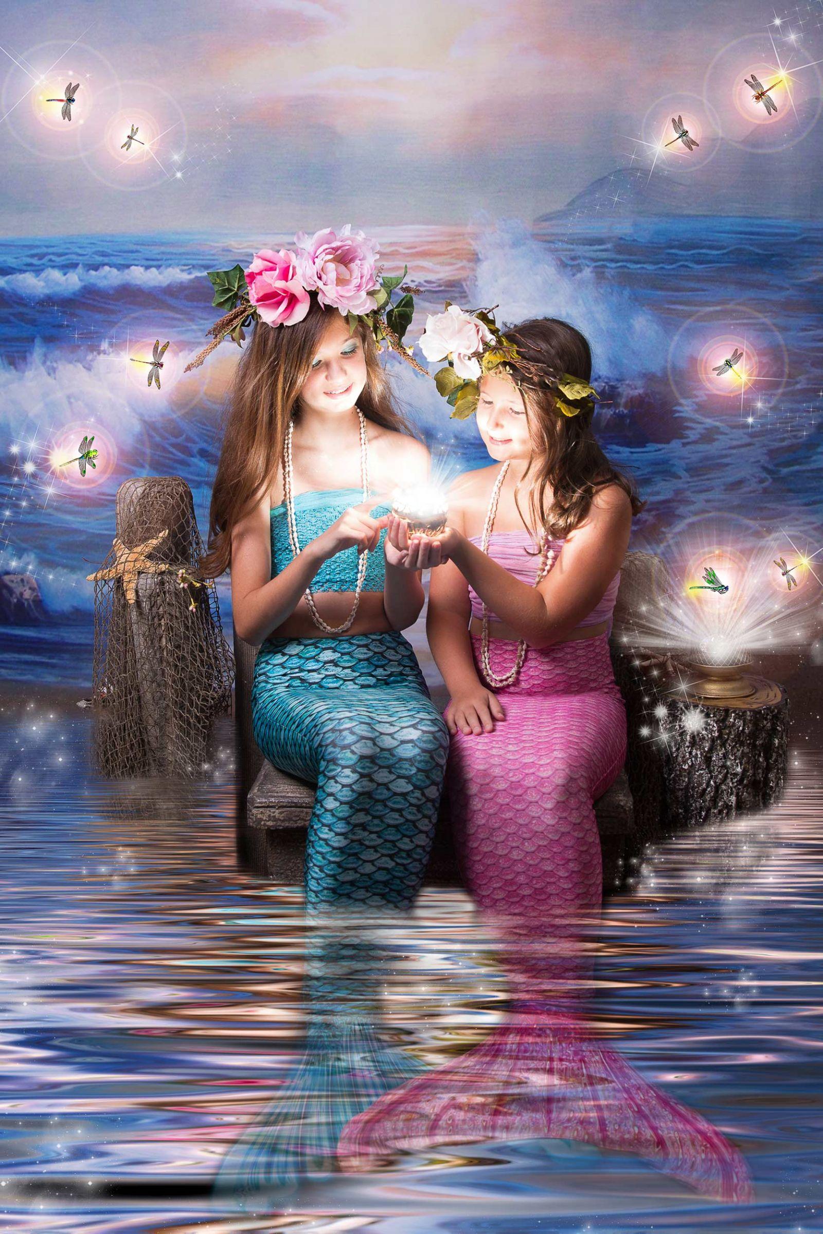 Mermaids Photo Session Dallas White Lavender Photography